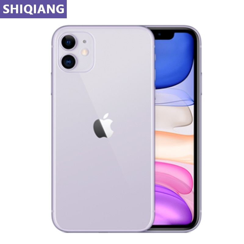 Unlock Original Apple iphone 11 Used Cell phones 6.1in Face 4+64/128/256GB 4G LTE Mobile Phones GPS&NFC 12+12MP 1/2 SIM Card A13