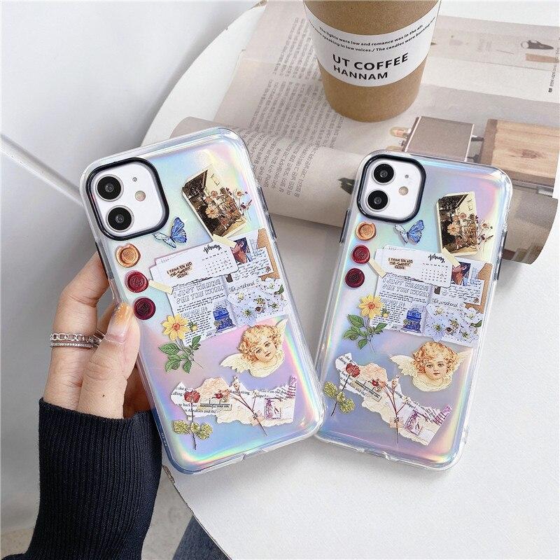 Funda de teléfono para iPhone 11 Pro Max X XR XS Max 7 8 Plus SE 2020 2, funda bonita para teléfono