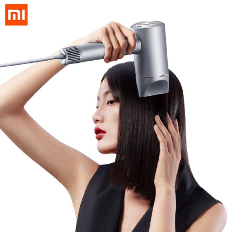 Secador de Cabelo Ventilador de Alta Xiaomi Mijia Negativo Velocidade Professinal Haircare 1400w Titular Secador Elétrico ar Quente Frio Hotel H900 Íon