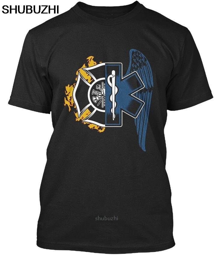 Firefighter Emt Ems Wing T-shirt Elegant cotton men t-shirts bigger size 4XL 5XL fashion male shubuzhi brand tee-shirt sbz8146