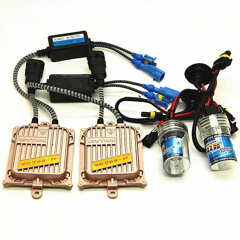 1 kit de boa qualith auto 55w h7 xenon h1 h11 9005 9006 headight hid nevoeiro h1 h3 h4 bixenon luz clara