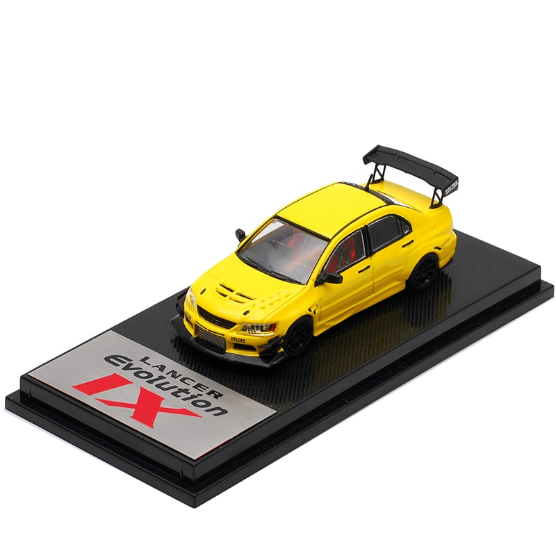 Cm modelo 164 mitsubishi lancer evo ix amarelo diecast modelo carro
