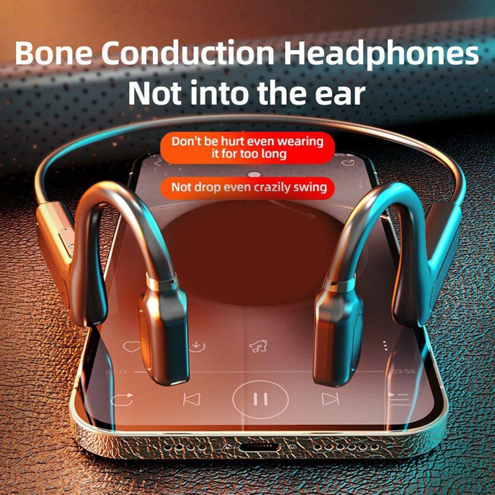 New Universal Protable Earphone Concept Bone Conduction Bluetooth-compatible Headset TWS Sports Waterproof Neckband Headphone