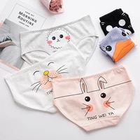 girls underwear new cute cartoon printed womens underwear pure cotton bag hip breathable and comfortable briefs pink panties