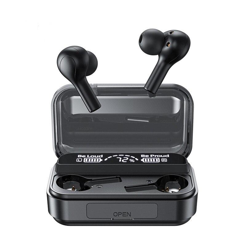 Auriculares TWS con Bluetooth y micrófono, auriculares inalámbricos estéreo 9D, Auriculares deportivos a prueba de agua con cancelación de ruido
