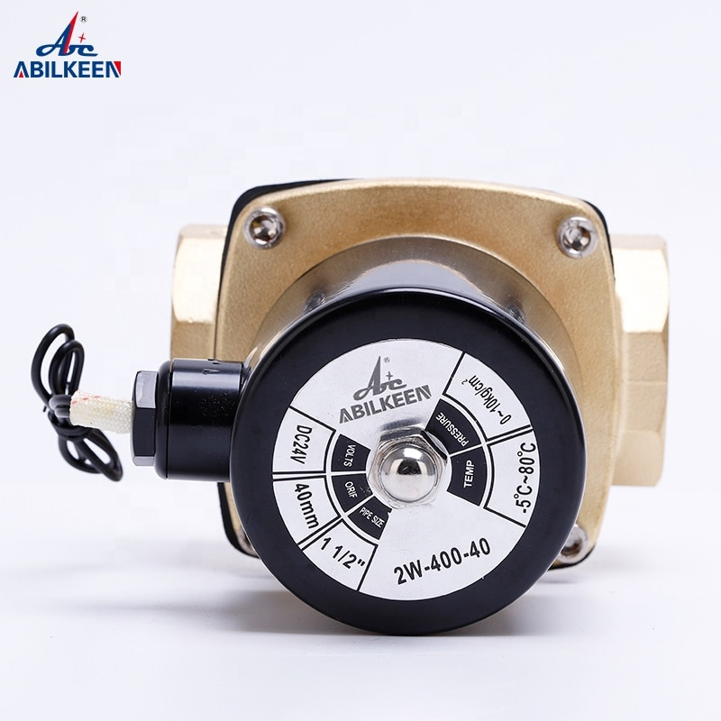 Compressor 2W400-40 AC220V DC24V Normally Closed Type Electric Brass Water/Air Solenoid Valve Price Pneumatic Valve enlarge