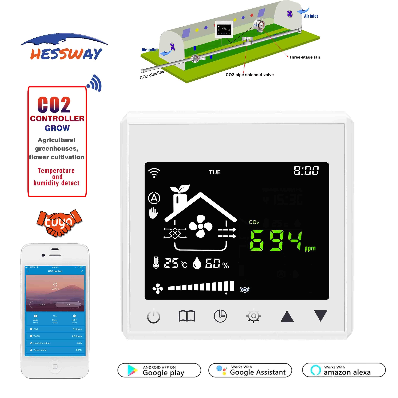 تطبيق WIFI يتحكم في إطلاق CO2 في الدفيئة لجهاز جسر TUYA الذكي أو من خلال RS485 و MODBUS