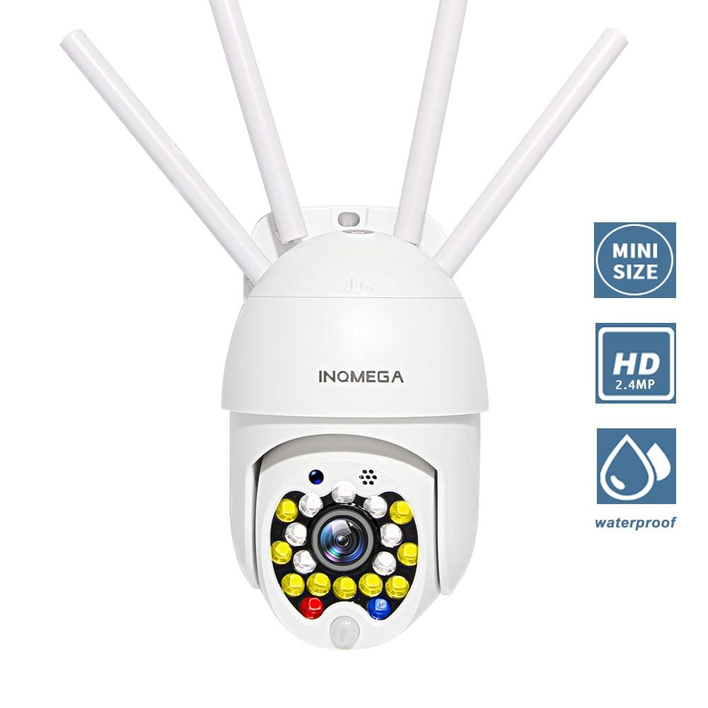Cámara INQMEGA 2,4 MP Mini cámara IP PTZ red domo de alta velocidad WiFi cámara inalámbrica monitoreo de seguridad al aire libre CCTV Cámara impermeable
