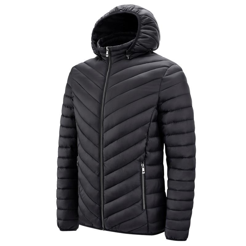 2021 Winter Parka Coat Jacket Men\'s Hooded Thicken Windproof Jacket Jacket Simple Warm Casual Jacke