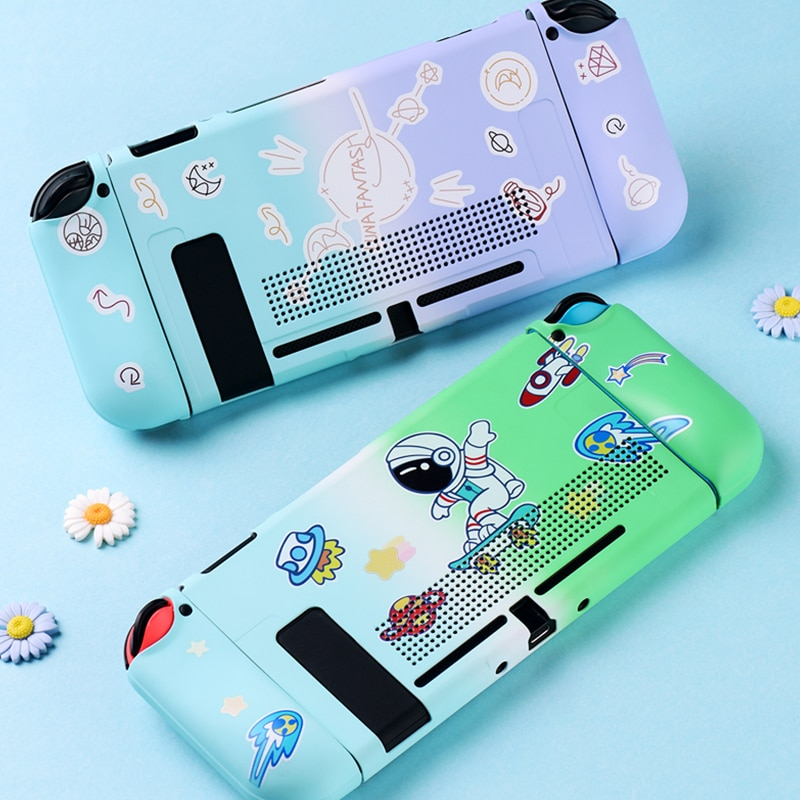 nintend switch protective shell split housing cute blue hard back cover shell ns game console case for nintendo switch accessory Colorful TPU Soft Protective Case Shell For Nintendo Switch NS Game Console Back Grip Cover Shell For Nintend Switch Accessories
