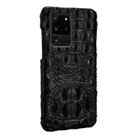 langsidi brand luxury crocodile phone case for samsung galaxy s20 ultra s20plus s20fe s10 a51 a71 s9 genuine leather back cover