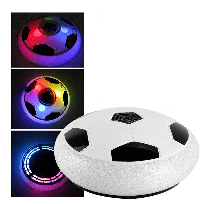Мигающие детские игры Hover Soccer Fun легкие воздушные подушки подвесные футбольные уличные спортивные игры подарок для детей игрушечный мяч