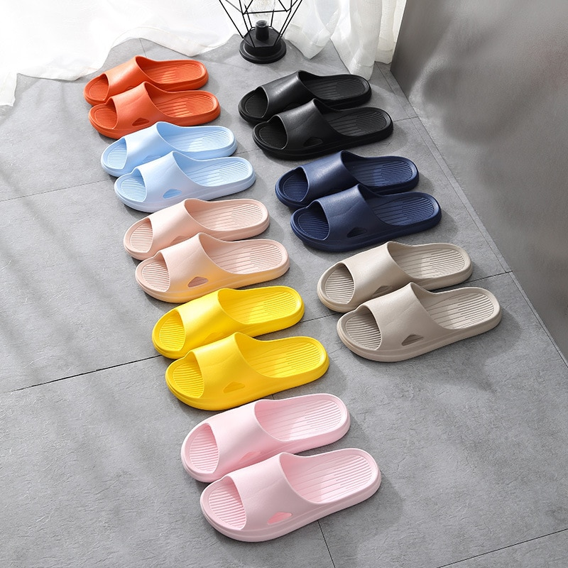 Universal Quick-drying Thickened Non-slip Sandals Thick Sole House Slippers Bathroom Footwear Summer Beach Sandal Slippers