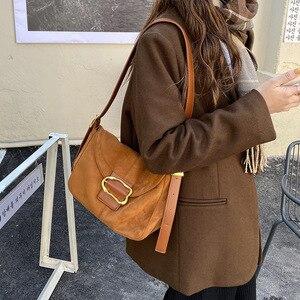2021 New Velvet Female Handbags Designer Chain Small Flap Crossbody Bags Casual Lady Shoulder Bag High Quality