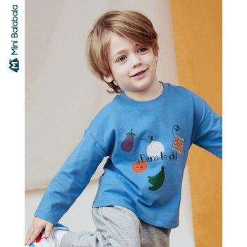 Mini Bababala Boys long-sleeved T-shirt skin-friendly soft 2020 spring new children baby tide children bottoming shirt