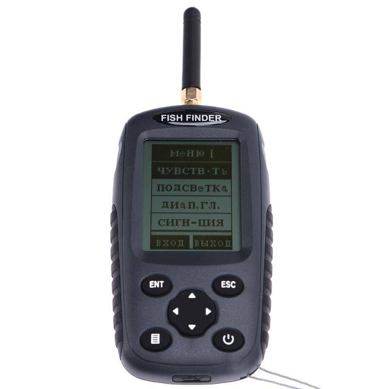 Ff998 sem fio recarregável inventor de peixes 125 khz sonar sensor de eco