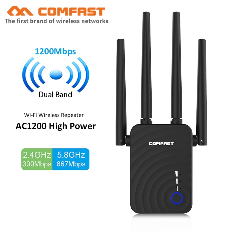 comfast cf wr635ac 750mbps 2 4g 5 0ghz smart wireless wifi router wi fi repeater external 6 6dbi antenna seamless wireless route Comfast CF-WR754AC 1200Mbps Home Wireless N Router Wifi Repeater 5Ghz Long Wi fi Range Extender Booster with 4*2dbi Antenna wifi