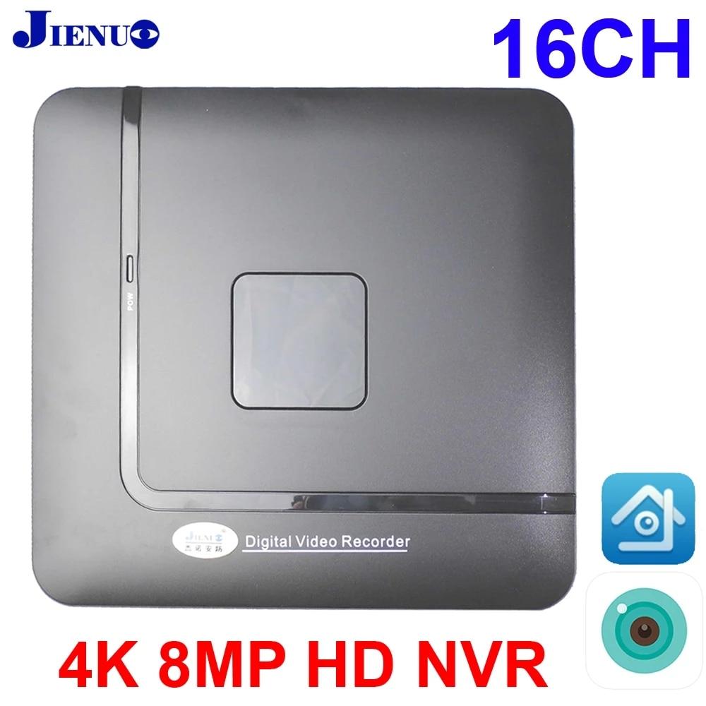 16CH NVR 4K/8MP/5M/1080P/720P مسجل فيديو 16 قناة P2P لكاميرا IP نظام كاميرات المراقبة CCTV Xmeye