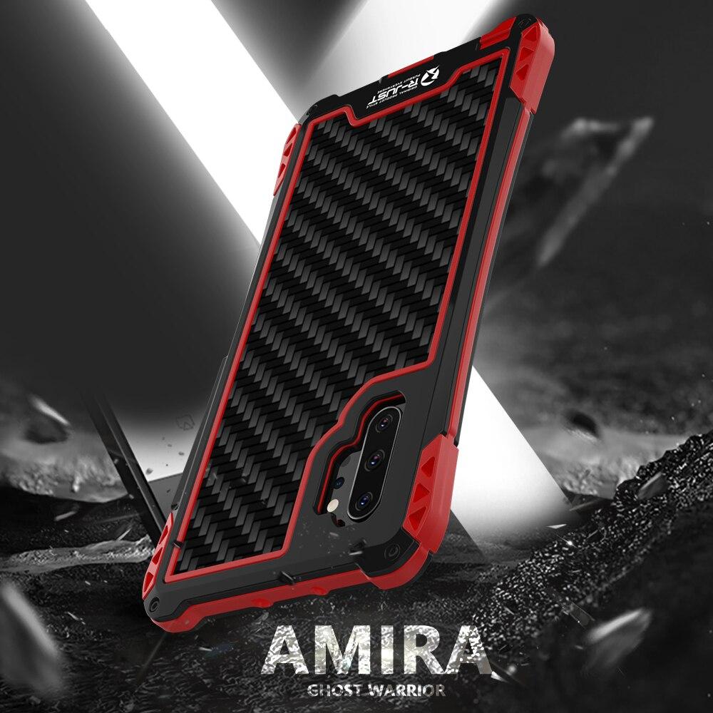 AMIRA-غلاف هاتف خلوي من ألياف الكربون ، مقاوم للماء ، متين ، هجين ، مقاوم للصدمات ، لهاتف Samsung Galaxy Note 10 Plus 10 5G