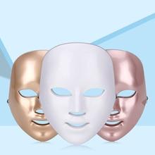 Beauté LED Photon masque Facial thérapie 7 couleurs lumière soins de la peau rajeunissement rides acné enlèvement visage beauté Spa XA75U