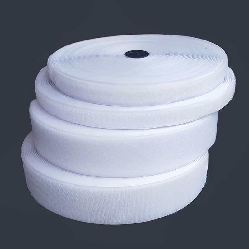 White velcros adhesive magic tape hook and loop no glue self adhesive fastener tape strip  sewing ticker strap 1/2/3/4/5/6/7/cm