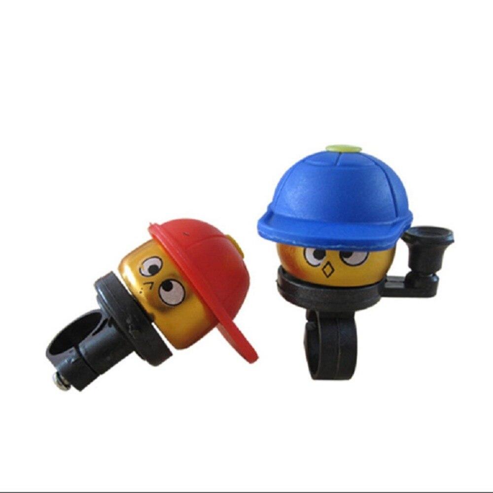 Детский велосипедный звонок, мультяшная детская бейсбольная кепка, велосипедный звонок, красный, синий или светильник, синий цвет