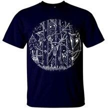 Dark Forest T-Shirt Mens Fantasy Gothic Alice Woodland Goth Tim Burton Magical Homme Customized Tee Shirt