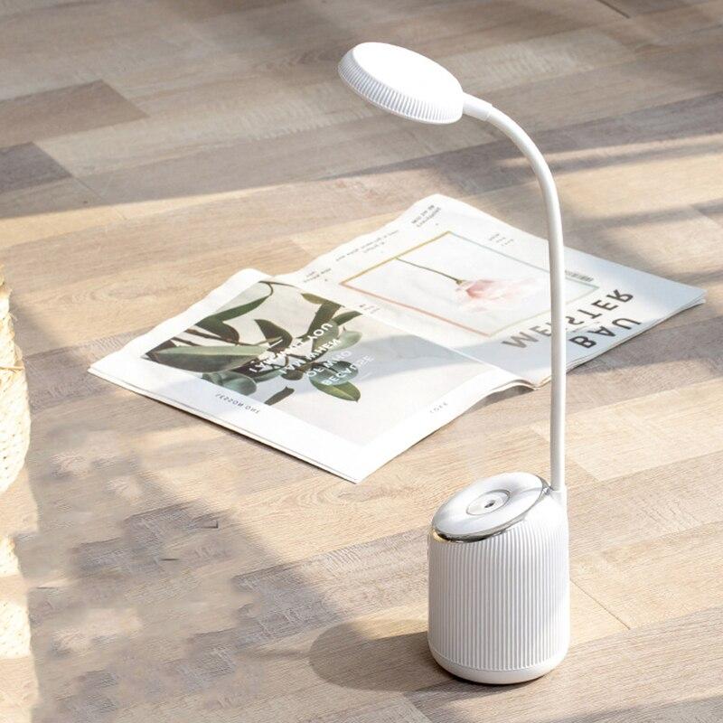 USB recargable humidificador de aire LED escritorio lámpara de mesa intensidad ajustable Lámpara de lectura 3 modos lámparas de escritorio