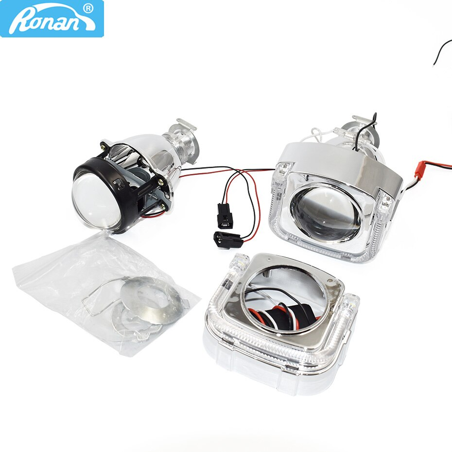 Ronan 2.0 inch 110mm bixenon projector lens with U LED angel eyes mask kit for car mototcycle headlight retrofit modiy