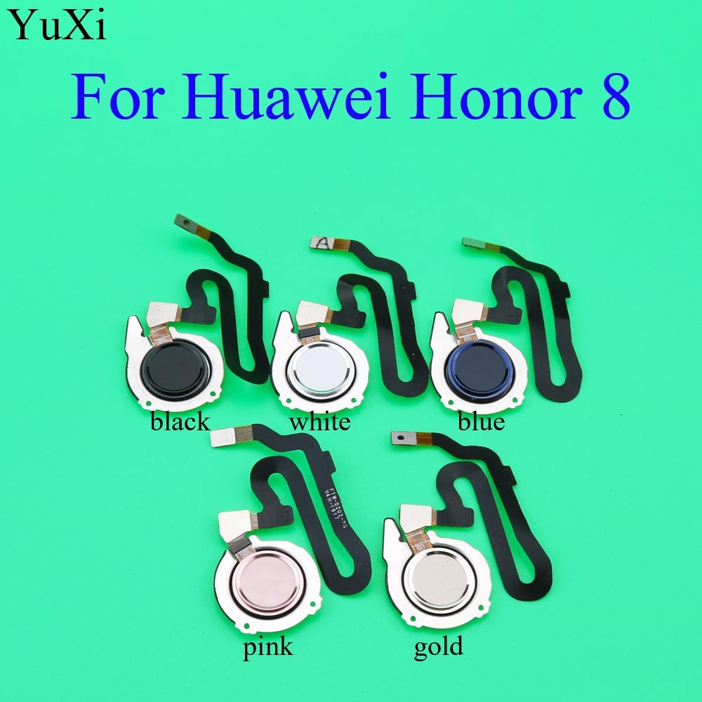YuXi touch ID Sensor de huella digital escáner inicio retorno Tecla MENÚ botón Flex Cable cinta para Huawei Honor 8