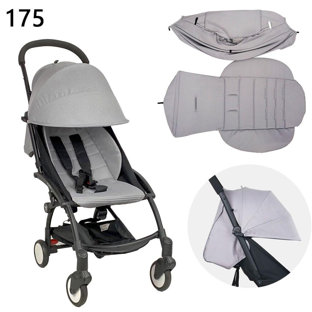 175 درجة غطاء محرك السيارة وفرش للطفل Babyzen يويو يويا عربة اكسسوارات مع سحاب خلفي جيب وسادة ل يويو