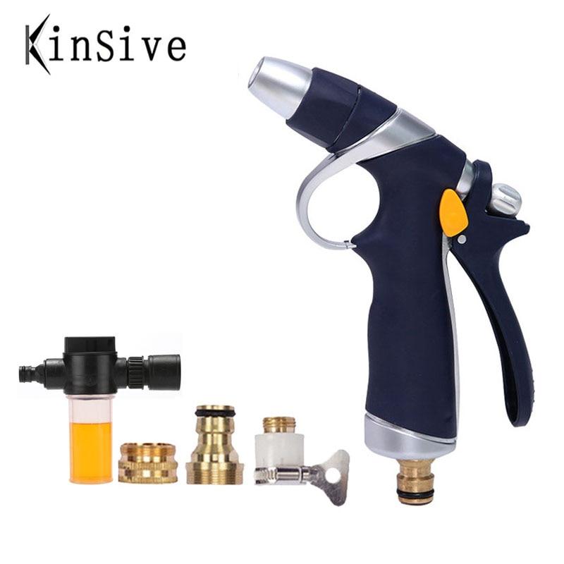 Nueva pistola de agua de alta presión manguera de jardín extensible manguera...