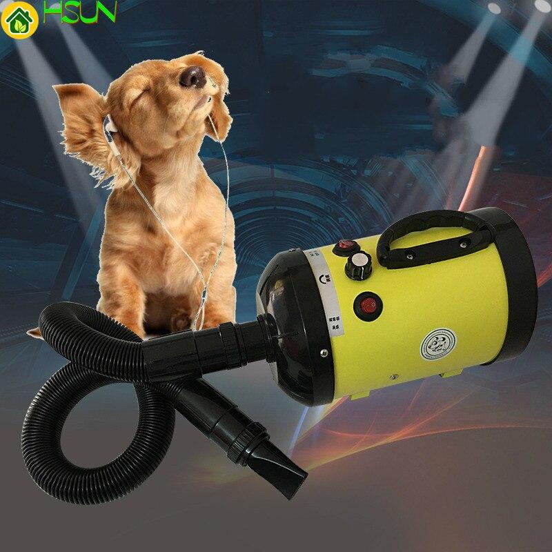 Secador de pelo de alta potencia silencioso de 2800W para perros grandes y gatos, secador de pelo dedicado sin grúa, enchufe europeo