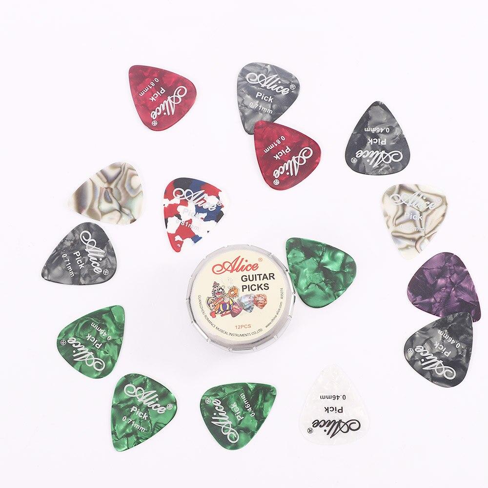 12/24 Uds de púas para guitarra acústica celuloide guitarra eléctrica púa instrumentos...