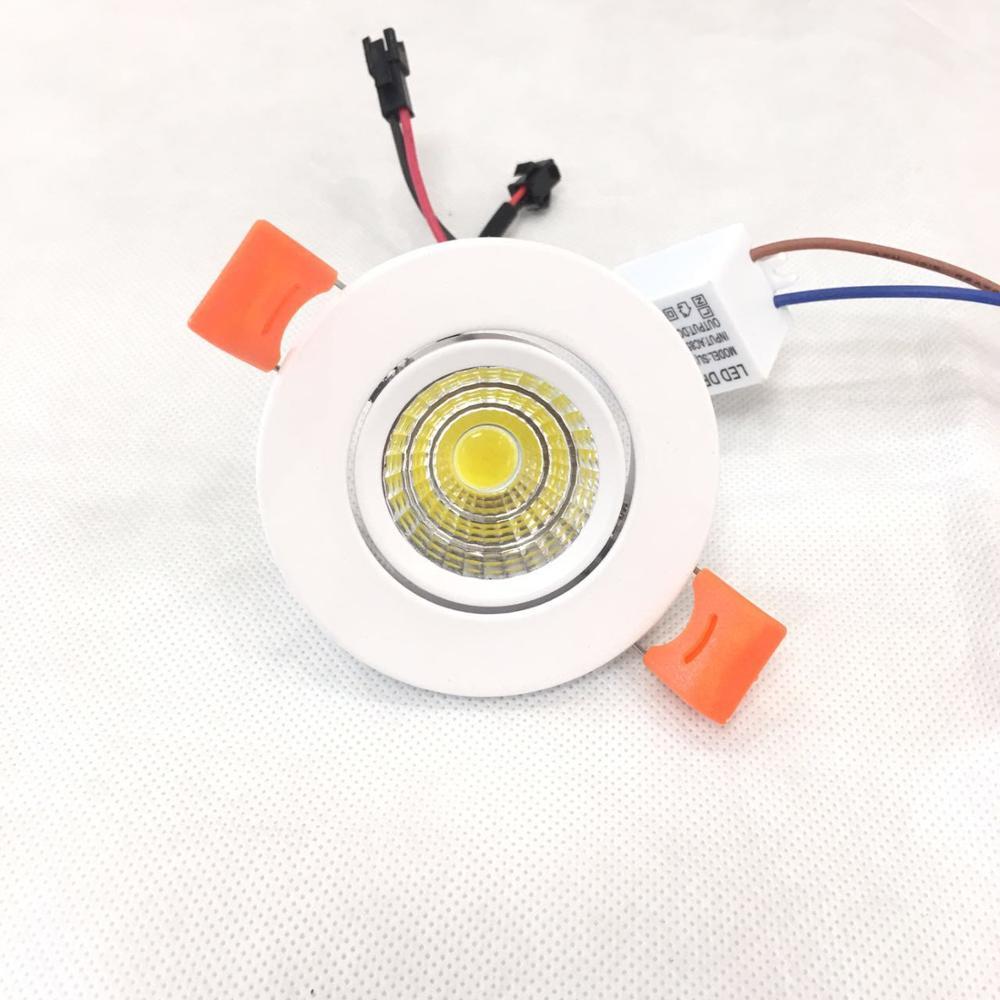 לד לתקרה مصابيح كشاف صغيرة الحجم إلى السقف 10 stück 3 W Led البسيطة Einbauleuchte روند Verstellbarer بقعة Deckenlampe 95-265 V Led-schrankl