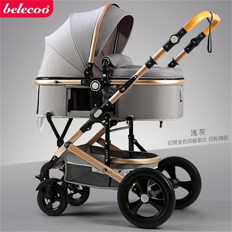 عربة أطفال Belecoo عربة أطفال 2 في 1 عربة للسفر بطريقتين بإطار من الألومنيوم هدايا على شكل عربة أطفال 10 قطعة