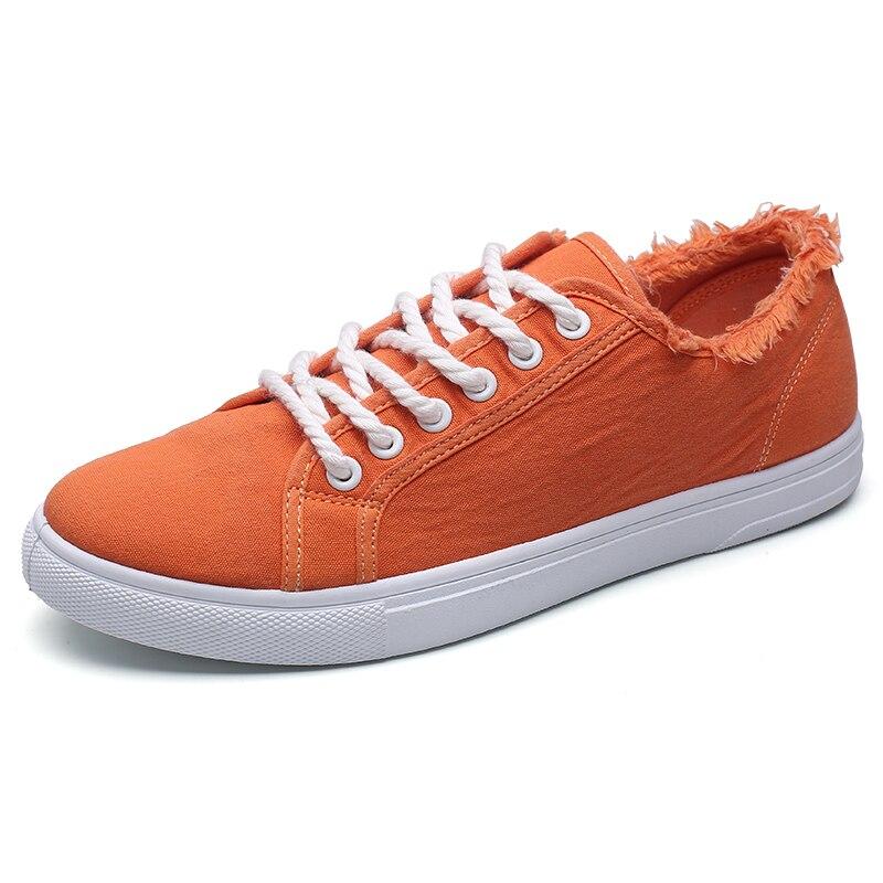 Nuevo lienzo zapatos de conducción hombres Verde Negro naranja blanco vulcanizados lona perezosos zapatos de tenis de diseñador para hombre de los hombres de la moda