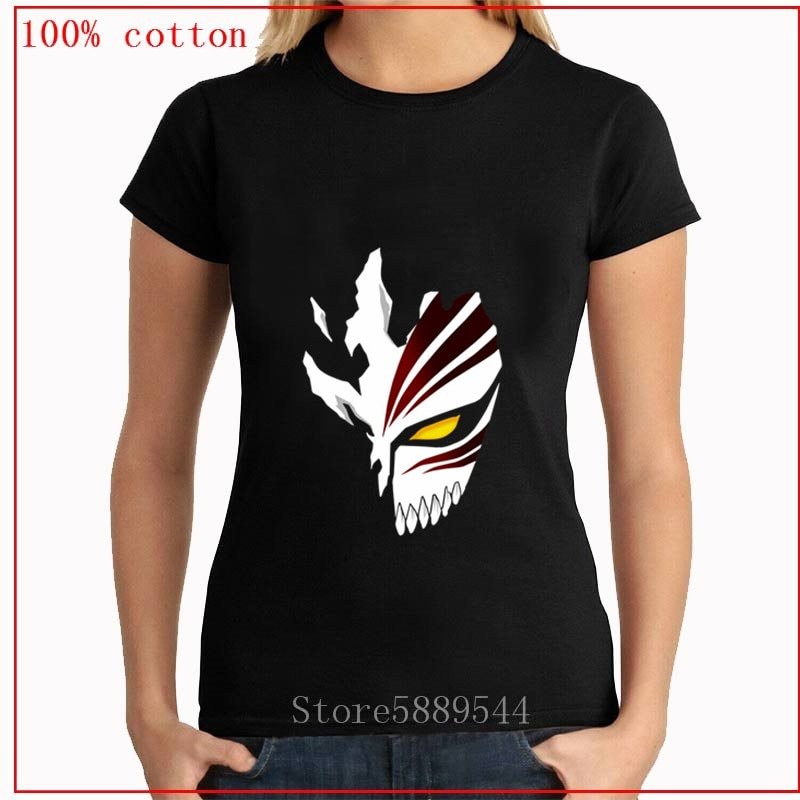 Recién llegado BLEACH Kurosaki Ichigo camisetas de dibujos animados Hip Hop camiseta Anime japonés Camiseta Casual algodón mujeres camiseta