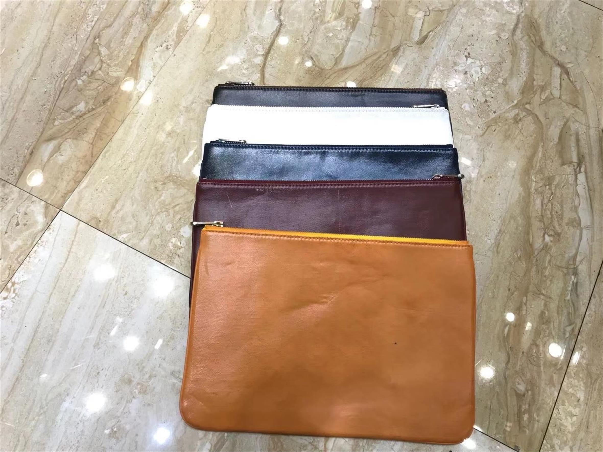 2019 high quality senior designer file bag, hand bag, leather clutch