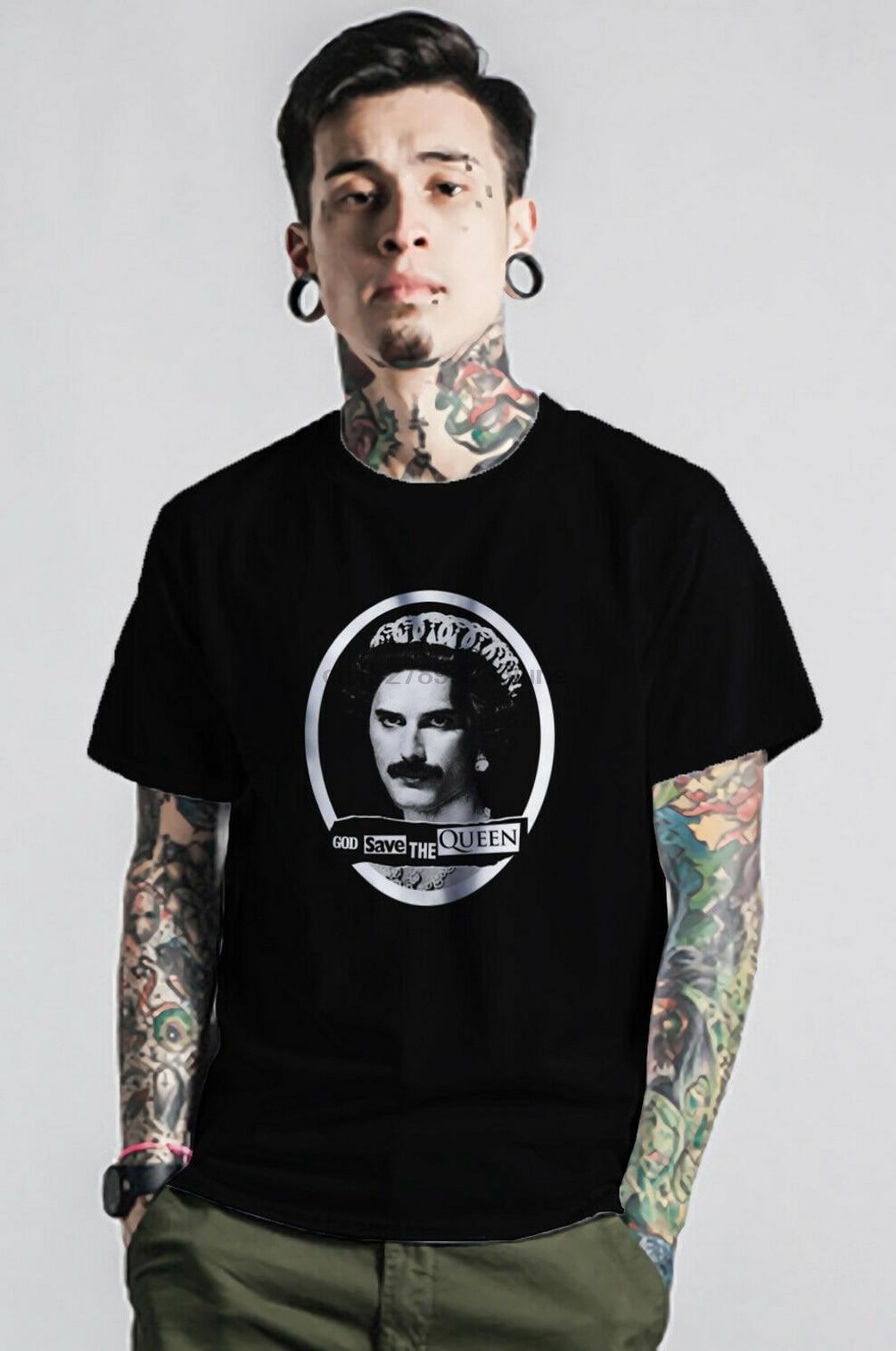 Freddie mercúrio camiseta deus salvar a rainha exclusivo roupas vintage m xl 2xl 13xl camiseta