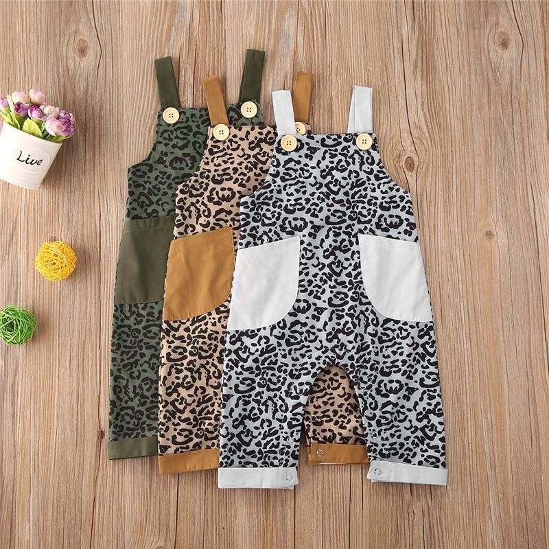 Monos de verano para bebés y niños, Mono de una pieza con estampado de leopardo sin mangas Unisex para recién nacidos, ropa suave de algodón para bebés, trajes