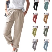 summer new style pants for women pure color casual high waist pants new arrivals pants women high waist