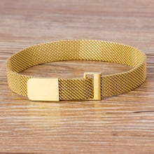 Classic Stainless Steel Magnetic Mesh Strap Bracelets Watch Strap 7 Colors Choice For Men and Women