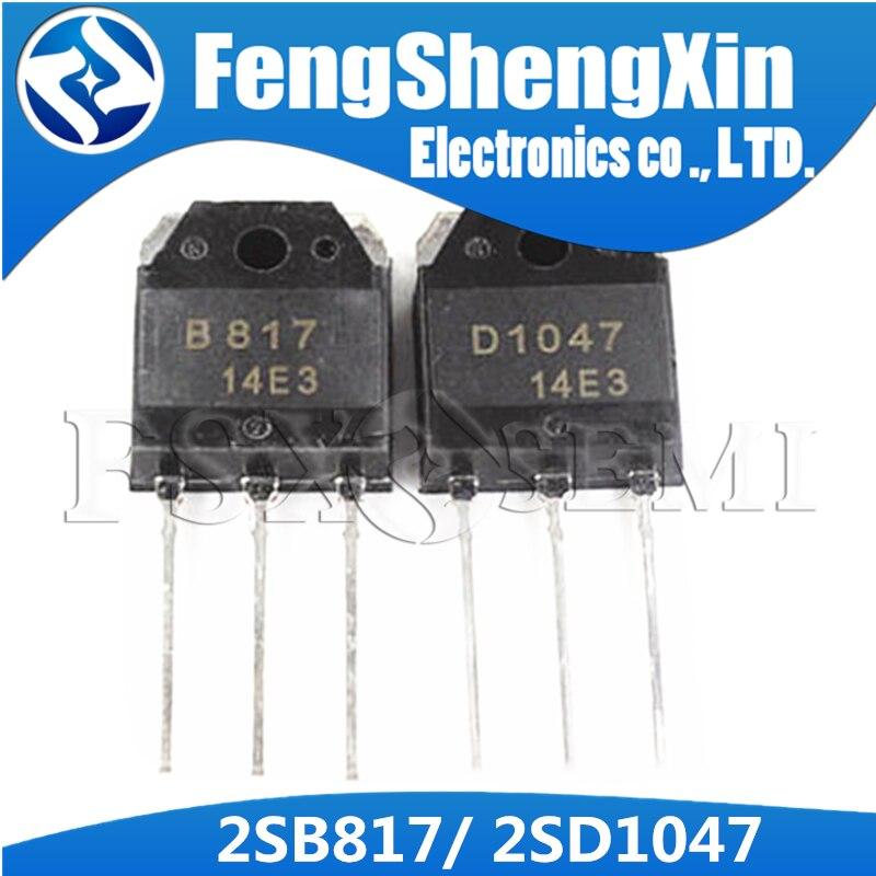 2SB817 2SD1047 TO-3P D1047 B817 transistores de potencia a-247