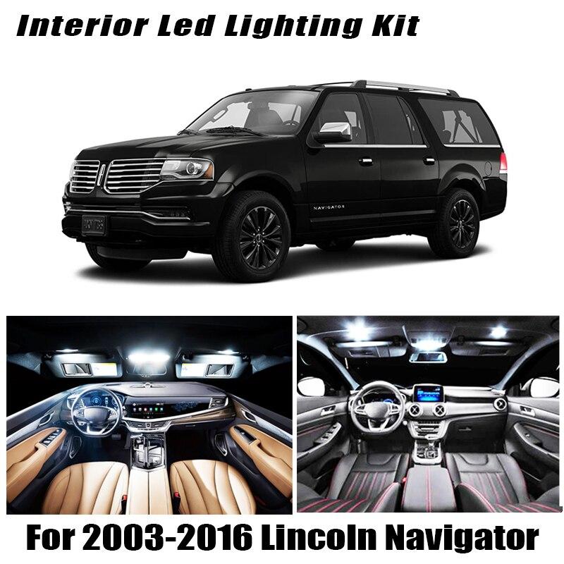 Lámpara LED blanca Canbus, Kit de bombilla para Mapa de cúpula Interior para 2003-2013 2014 2015 2016 Lincoln Navigator, luz de matrícula