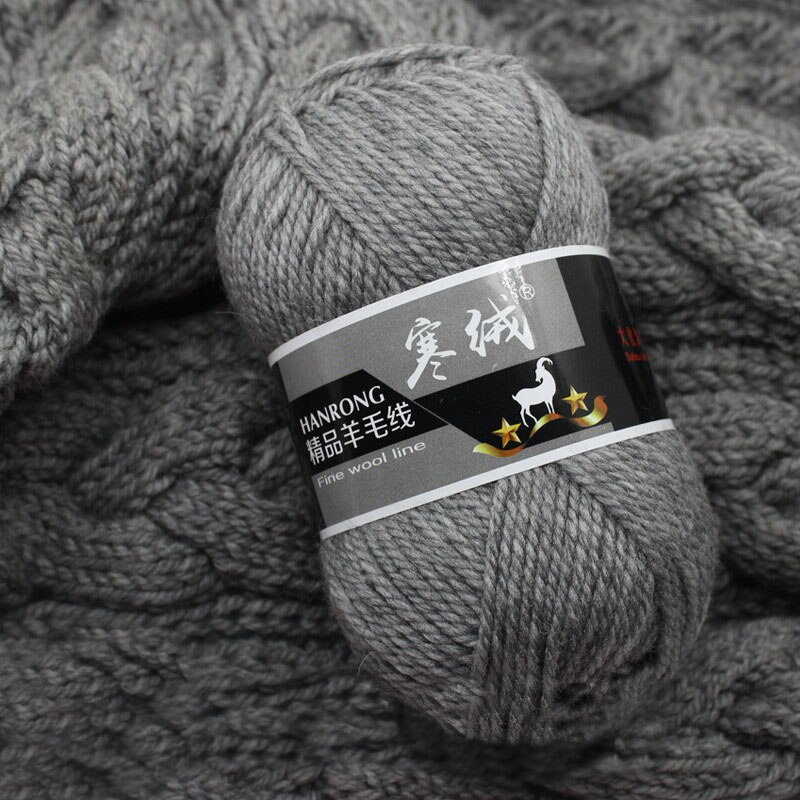Мягкая толстая пряжа из шерсти для вязания крючком, 100 г/шар, ручная кашемировая пряжа для вязания, нить для свитера JK487, опт