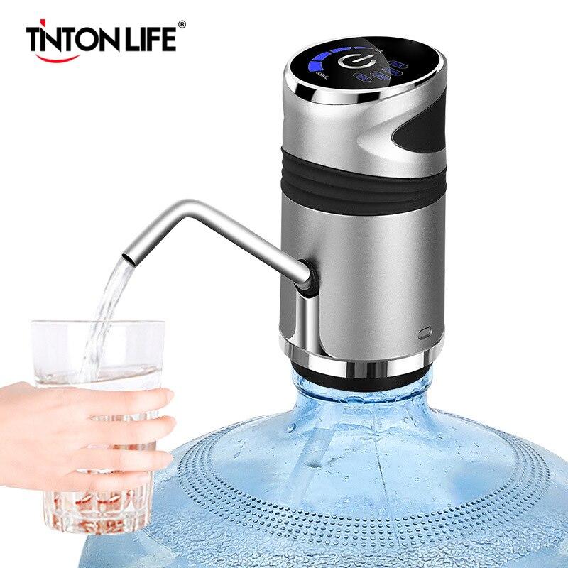 Водяной насос для бутылки с USB зарядкой, автоматический портативный Электрический диспенсер для воды, переключатель для бутылки воды, устро...