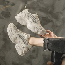 Women Mesh Breathable Platform Chunky Shoes Fashion Female Sneakers Women Brand Casual Sport Tenis Shoes Woman Vulcanize Shoes