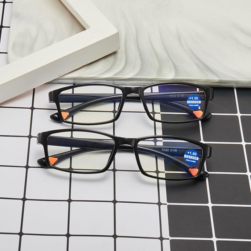 Men Women Rimless Reading Glasses Bifocal Far Near Anti Blue Light Magnification Eyewear Presbyopic