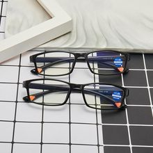 Men Women Rimless Reading Glasses Bifocal Far Near Anti Blue Light Magnification Eyewear Presbyopic